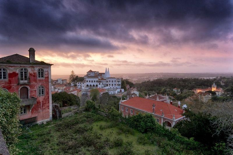 Sintra Castle at sunset