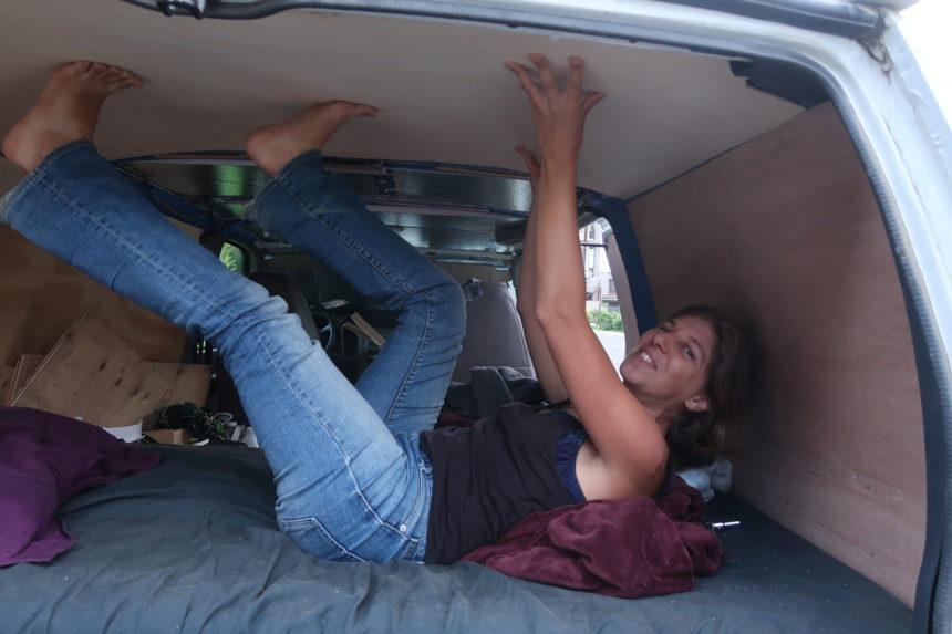 Tanya in her van