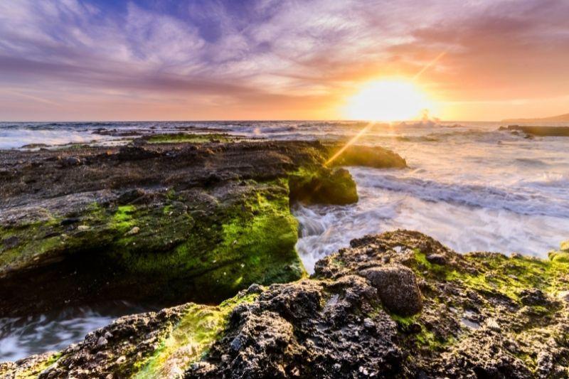 VICTORIA BEACH AT SUNSET
