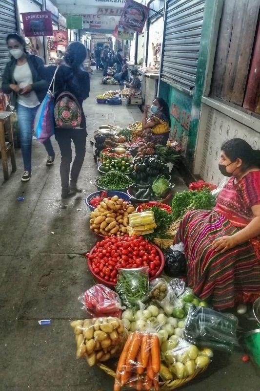 Antigua Market lady selling