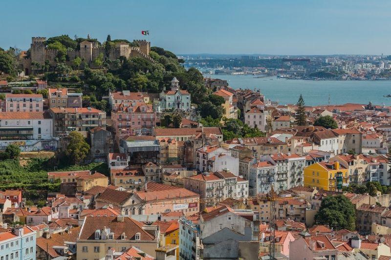 Lisbon Castel overview Portugal