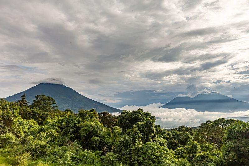 Finca el Pilar view of the volcanos