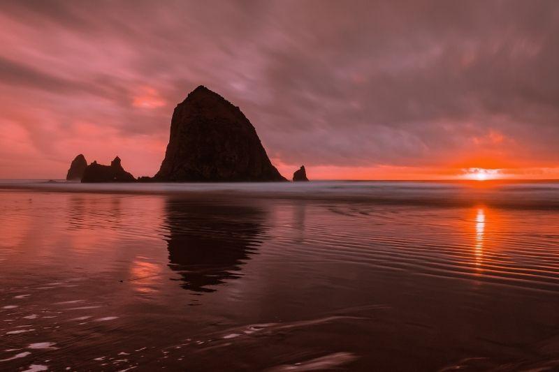 Oregon Coast Cannon Beach Sunset