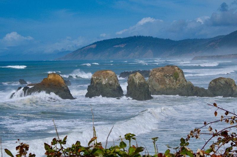 Oregon Coast Rough Sea