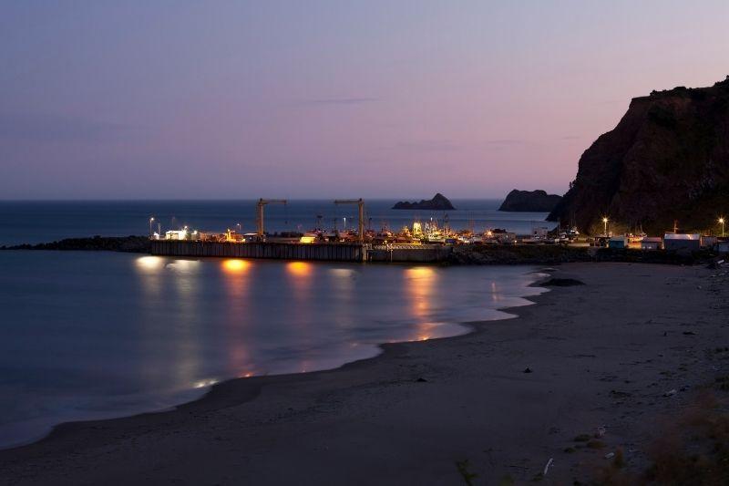 Port Orford Oregon at Sunset