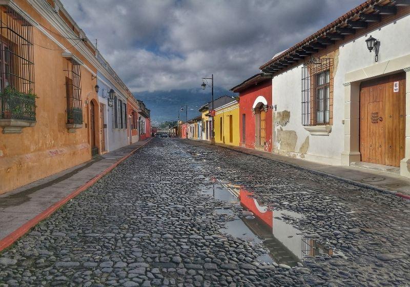 Antigua street reflections