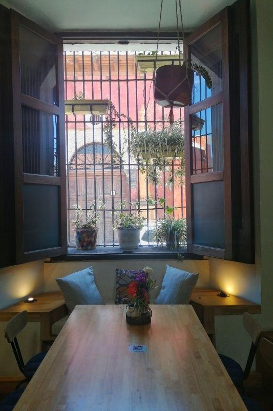 calista cafe window