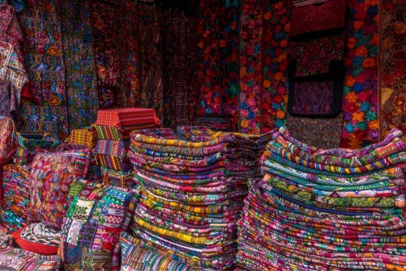 Chichicastenango market textiles