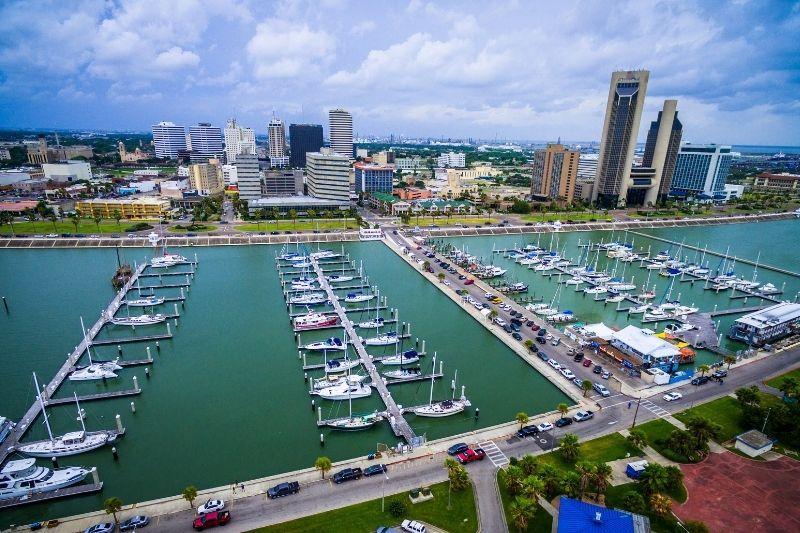 Corpus Christi Texas aerial view