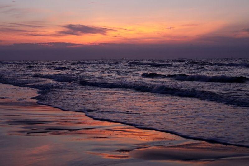 Texas beach at sunrise