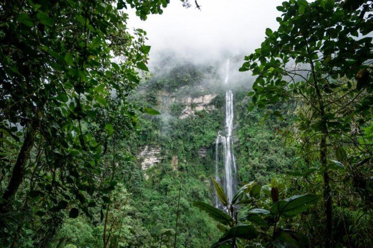 La Chorrera waterfall in the woods